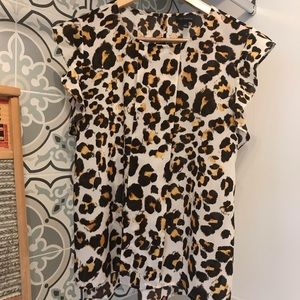 The Limited Animal Print Top Blouse S